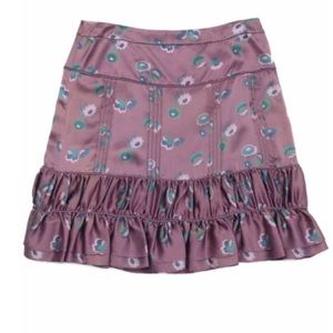 100% Silk Marc Jacobs Ruffled Mini Skirt 8